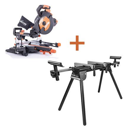 Evolution R255SMS+ and Mitre Saw Stand