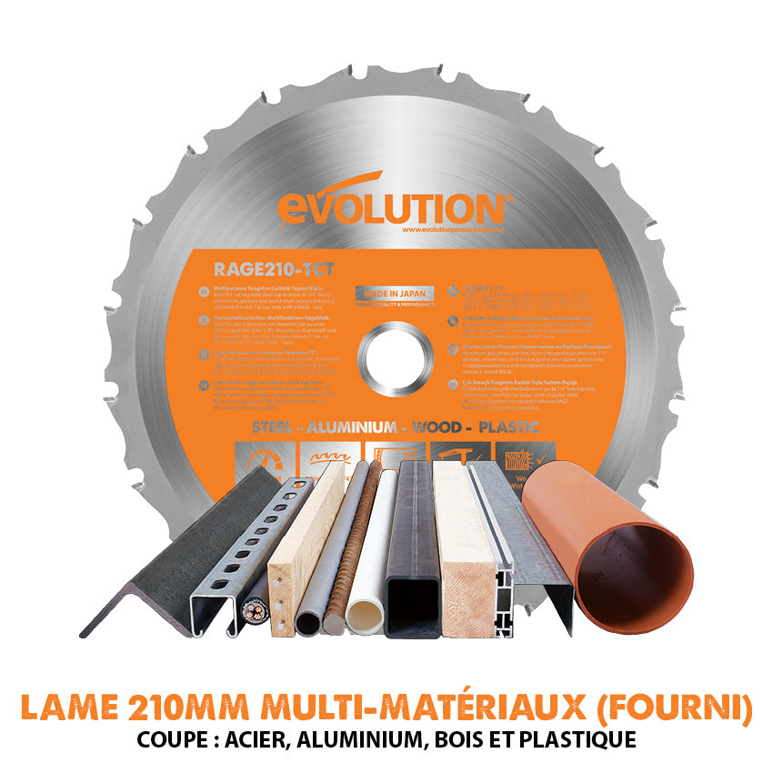 210mm Multipurpose TCT Blade Supplied