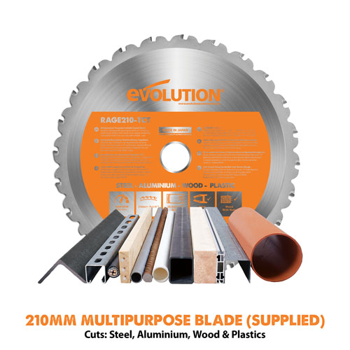 Evolution 210mm Multipurpose TCT Blade