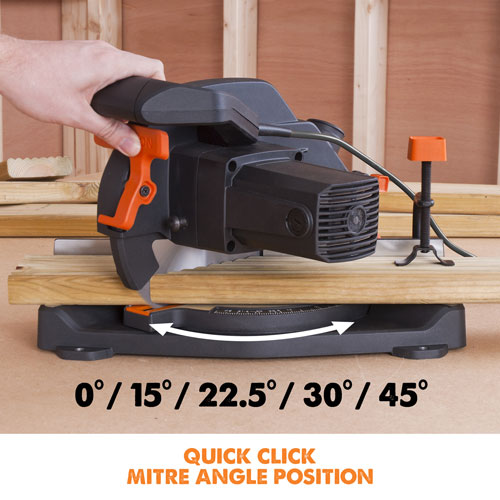 R210CMS Quick click mitre angle positions