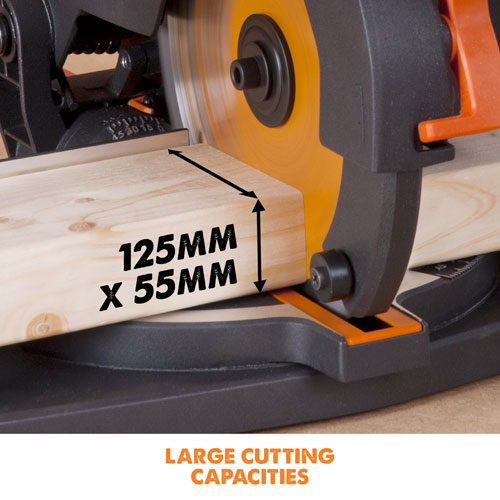 125mm x 55mm cross cut capacity