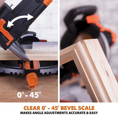 Cealr 0°-45° Bevel Scale