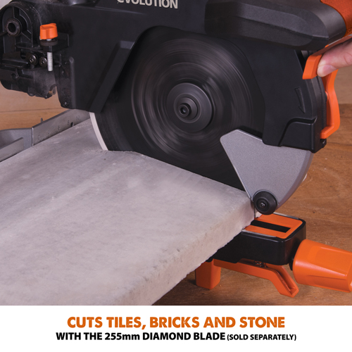 Cuts Tiles, Bricks And Stone with a Dimaond Blade