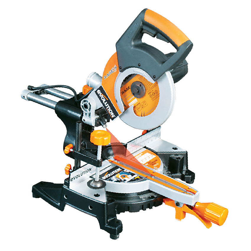 210mm mitre saw powerful accurate multipurpose evolution. Black Bedroom Furniture Sets. Home Design Ideas