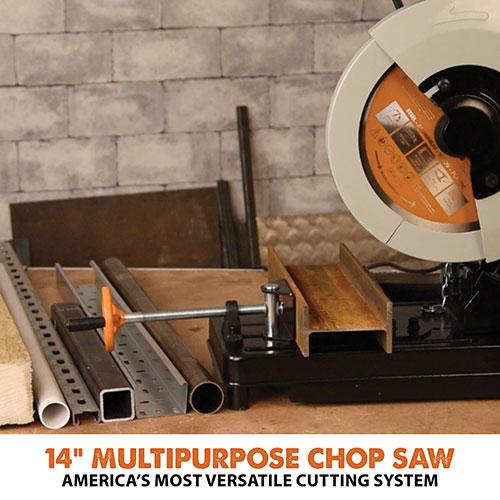 Evolution RAGE2 14 inch multi-material cutting chop saw