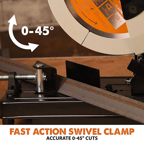 Fast action swivel clamp