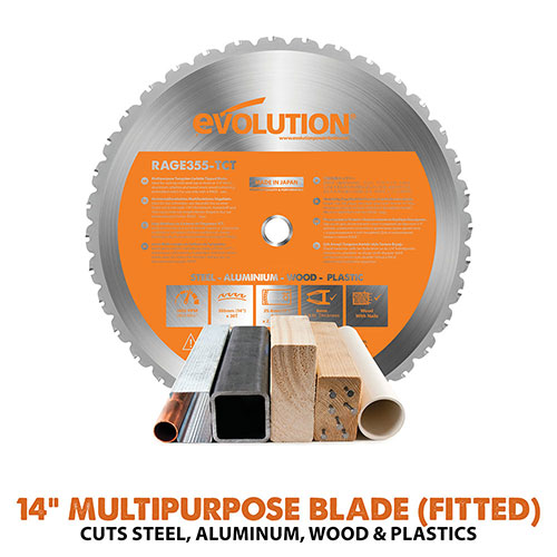 includes 14in multipurpsoe blade
