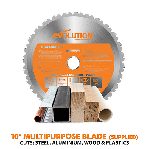 "10"" Multipurpose TCT Blade Supplied"
