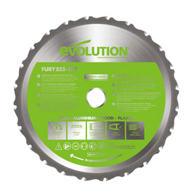 Evolution 255mm Multi-Material Cutting TCT Blade