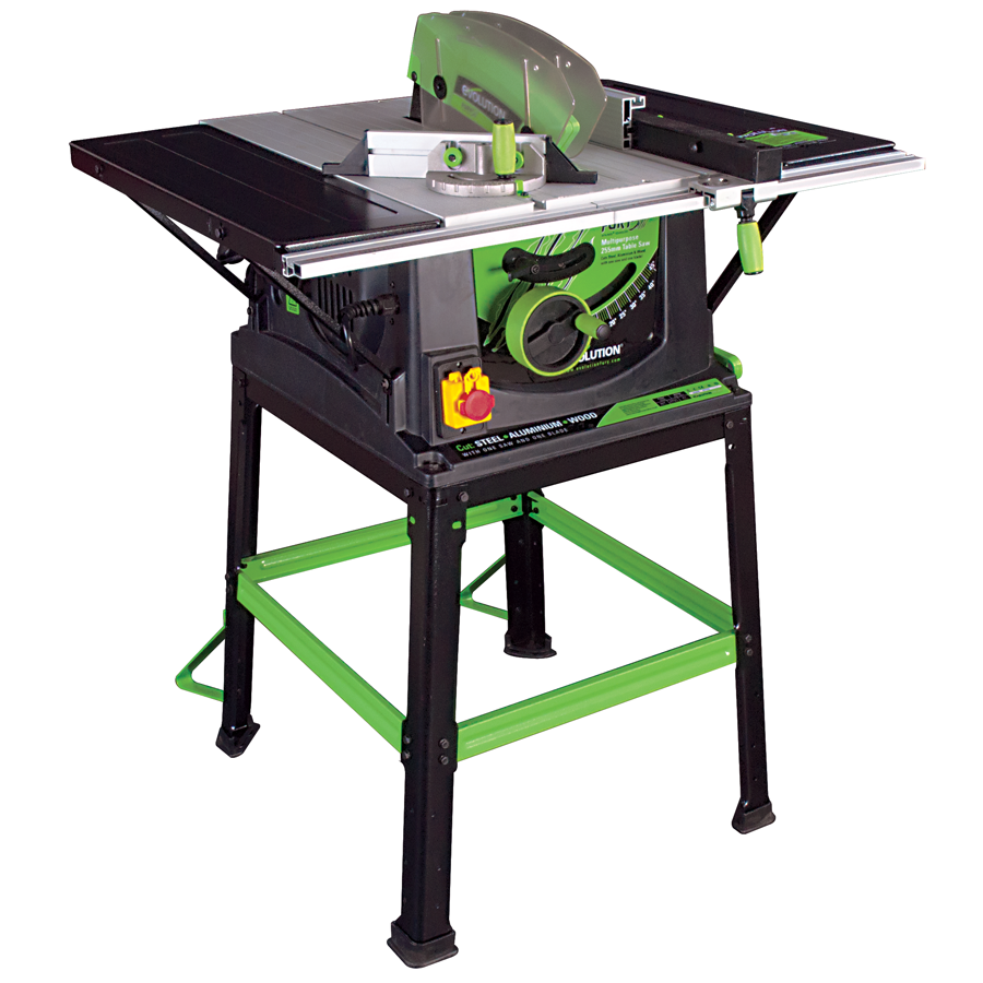 Evolution fury5 255mm 10inch multipurpose table saw inc vat greentooth Choice Image
