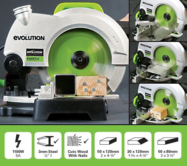 evolution - fury3-b 210mm tct scie à onglet