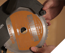 Evolution power tool videos changing the blade on an evolution r210cms mitre saw blade installation keyboard keysfo Gallery